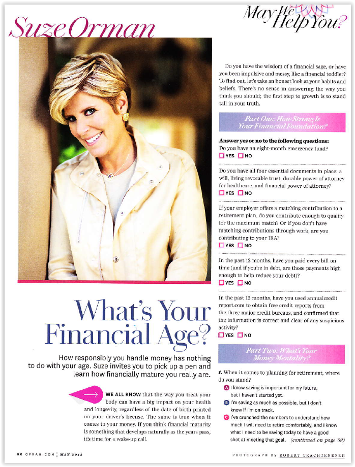 What's Your Financial Age?
