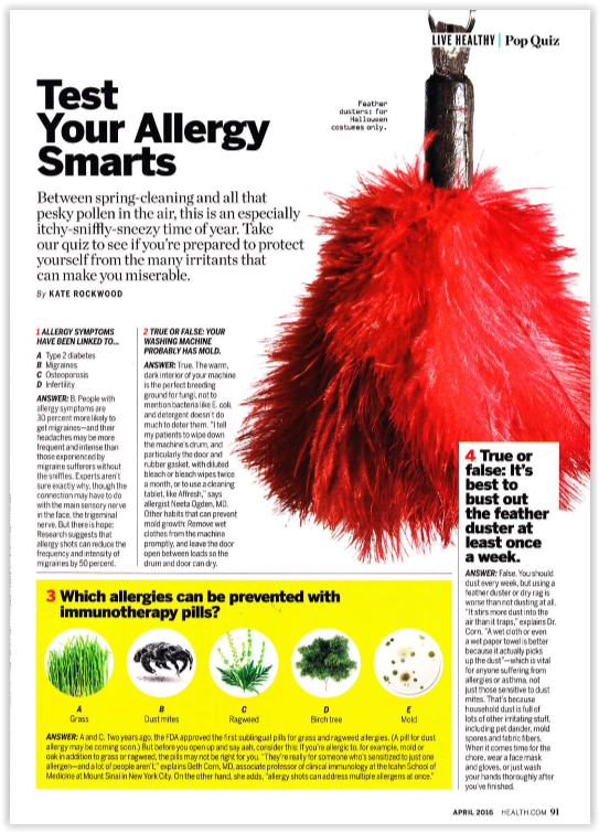 Test Your Allergy Smarts