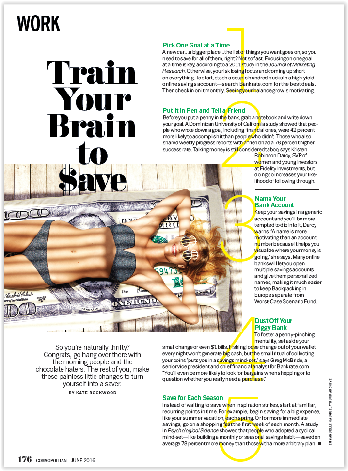 Train Your Brain to Save
