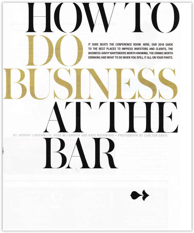How to do  Business at the Bar