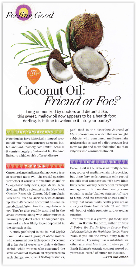 Coconut Oil: Friend of Foe?